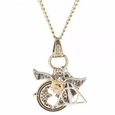 Harry Potter Movie Series Multi Charm Assorted Metal Charm Necklace