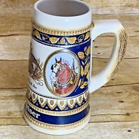 Vintage Budweiser Anheuser Busch Beer Stein Mug Staffel Stoneware West Germany