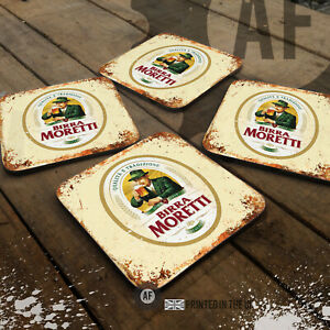 Birra Moretti Drinks Coaster Collection Mancave Shed Garage Home Bar Pub Lager