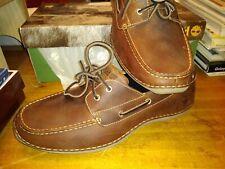 mens timberland boat shoes annapolis 2 eye moc toe brown full grain tb74017 NEW