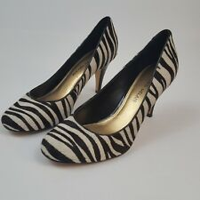 Antonio Melani Zebra Animal Hair  Pump Heel Size 7 1/2 M