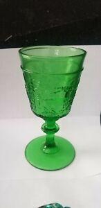 VINTAGE WESTWARD HO EMERALD GREEN GLASS GOBLET
