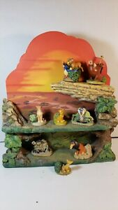 """Disney Magic Thimble Collection by Lenox """"The Lion King"""" With Pride Rock Display"""