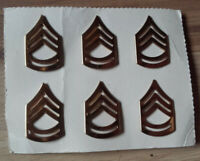 6x Rank Pin Army US-Army Sergeant First Class Gold Abzeichen Original m Vers-Nr.