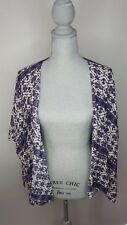 Brandy Melville Womens Kimono Top One Size Lightweight Flowy Purple Print