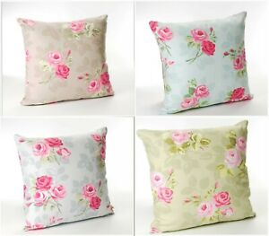 Cotton Cushion Covers Rose Floral by Dotty Brown