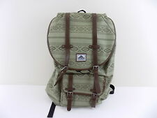 STEVE MADDEN $125 Green Backpack MEN 100% AUTH BAG SCHOOL TRAVEL WORK SALE L24