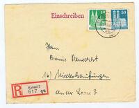 Bizone / Bauten, Mi. 80wg, 92wg, R-Brief Kassel / AKS