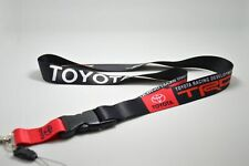 For TOYOTA TRD Lanyard Cell Phone Keychain Quick Release Key Chain Red and Black