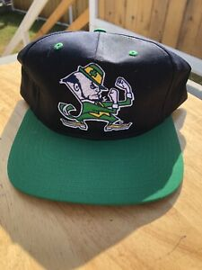 Notre Dame Fighting Irish Vintage 1990's Twins Enterprise Snapback Hat With Tags