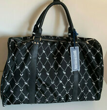 NEW! TRUE RELIGION BLACK MONOGRAM TRAVEL LUGGAGE WEEKENDER DUFFLE BAG $169 SALE