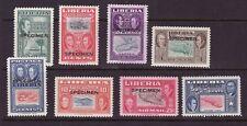 Liberia # 332-37 C68-69 SPECIMEN Overprints Mint Complete 1952 Ashman Set Map