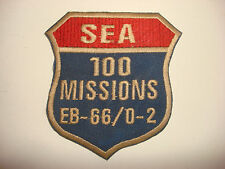 "USAF Tactical Electronic Warfare Aircraft EB-66/O-2 ""SEA 100 MISSIONS"" War Patch"
