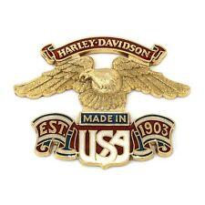 Harley Davidson made in USA Eagle Medallion Large. 99000-77
