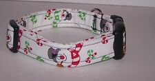 Wet Nose Designs Frosty The Snowman Dog Collar Christmas Winter Blue or White