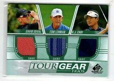 New listing 2021 UD SP Game Used Golf Tour Gear Trios David Duvall Tom Lehman K.J. Choi