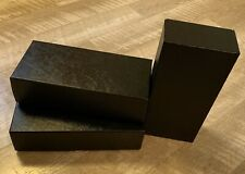 3 Black Cardboard Coin Slab Storage Boxes for Ngc Pcgs and Other Slabs