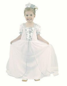New Latest Special Best UK White Fairy Princess Costume Dress Outfit For Girls