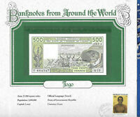 World Banknotes West African States Togo 1985 500 Francs UNC P-806Th Q.13