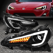 [3D LED DRL+SEQUENTIAL TURN SIGNAL]FOR 13-19 TOYOTA 86 FRS PROJECTOR HEADLIGHT
