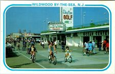 Postcard NJ Wildwood New Jersey Boardwalk Bicycles Vintage A6