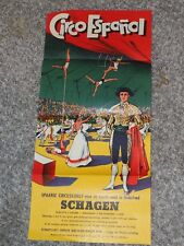 CIRCO ESPANOL SPANISH CIRCUS ART first time in SCHAGEN Netherlands POSTER 1958