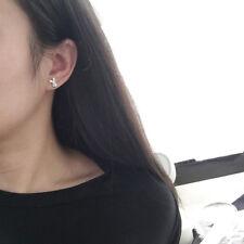 One Pair Cute Rabbit Stud Earrings Women Silver Ear Jewelry Animal Bunny Gift