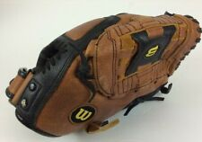"""Wilson Baseball Glove A2445 Select 11"""" Leather Adjustable Strap Soft Lining Gc"""