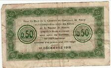 CHAMBRE DE COMMERCE  de  NANCY  50  centimes
