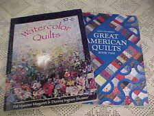Books Watercolor Quilt Margaret Slusser Great American Quilt Book Two Lot of 2