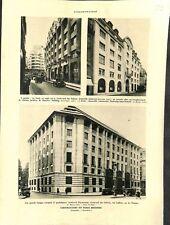 Paris immeuble boulevard des Italiens, Faubourg-Saint-Honoré  ILLUSTRATION 1932