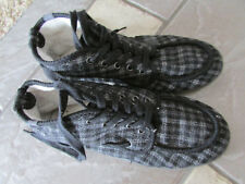 ROXY MID TOP PLAID SHOES WOMENS 8.5 LACE UPS STYLE: SHIPWRECK FREE SHIP
