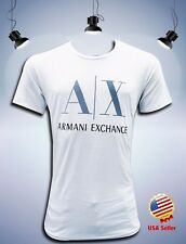New Armani Exchange Men's White Slim Fit T-shirt Short Slevee Size XL  (3523)