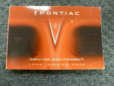 1999 Pontiac Grand Prix Sedan Coupe Owner Owner's Manual User Guide SE GT GTP
