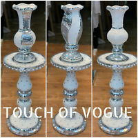 Pearl VENETIAN Mirrored Table Vase Modern Flower Stand Bed Side Romany Mosaic