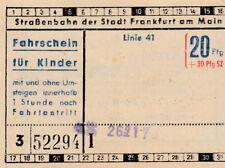 ANTIGUO BILLETE para niños Tranvía Frankfurt am Main, Alemania (g3961)