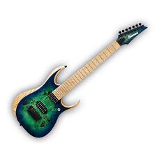 Ibanez Iron Label Rgdix 7mpb 7 String Electric Guitar Surreal Blue Burst Finish