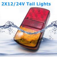 2x LED TRAILER LIGHTS TAIL LAMP STOP INDICATOR 12V/24V VOLT 4WD 4X4 CAMPER UTE