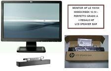 MONITOR HP LE 1901W WIDESCREEN 16:10 - PERFETTO GRADO A + REGALO HP LCD SPEAKER
