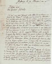 Général DEDON-DUCLOS autographe / Belle lettre 1802