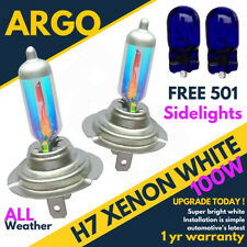 H7 100w Super Weather White Xenon 499 Car Headlight Bulbs 12v W5w 501 Sidelights