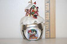 Mickey Mouse Sleigh Bell Ornament - Homemade Holidays - Minnie - Ashton Drake