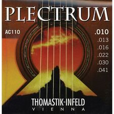 Thomastik Infeld AC110 Plectrum Bronze FlatWound Acoustic Guitar Strings 10-41