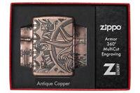 ZIPPO Nautical Scene Armor Case Feuerzeug Multicut Tiefengravur - 60004896