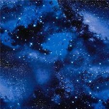 Solar System Galaxy Night Sky with Stars Cotton Fabric Fat Quarter