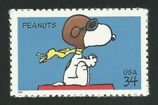 70th Anniversary Peanuts The Red Baron WWI Flying Ace Sopwith Camel Stamp MINT!