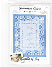 Quilting Pattern:  Bundle of Joy Baby Birth Record Remembrance Quilt 38 x 50 in.