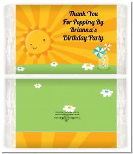 You are my Sunshine - Custom Birthday Party Popcorn Wrappers - Set of 12
