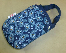 Lot of 100 Small Neoprene Pouch Photography, Phone, Crafts, Gifts Paisley Blue