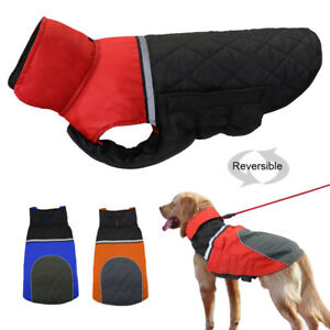 Waterproof Small Large Dogs Winter Clothes Reflective Pet Warm Jacket Coat S-XXL